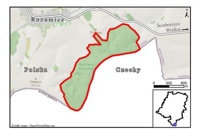 Rezerwat przyrody Rozumice, źródło: RDOŚ Opole