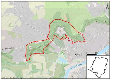 Foty Nyskie, mapa: źródło: RDOŚ Opole