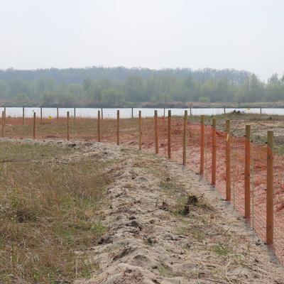 Przygotowanie ogrodzenia elektrycznego, źródło: RDOŚ Opole