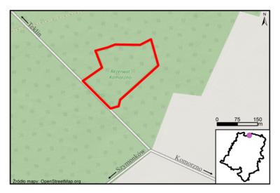 Rezerwat Komorzno, źródło: RDOŚ Opole